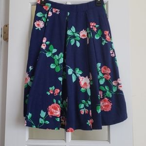 Lularoe RARE Disney Rose Floral Madison Skirt